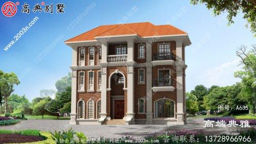 149平方米欧式三层别墅设计图,全