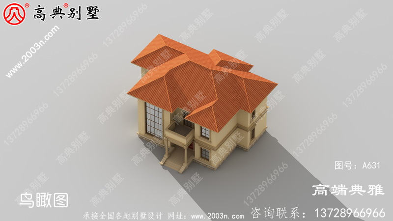 农村好看的两层小楼图,外观、造型简洁大方