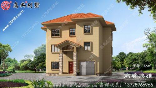 182平方米欧式三层别墅建筑设计图纸,复式结构