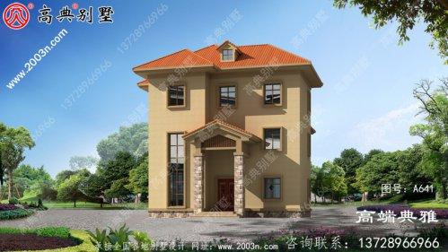 农村欧式三层别墅设计效果图,预