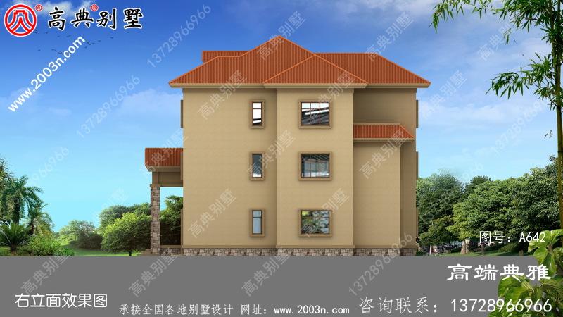 简欧三层别墅设计图纸,简单大气占地172平