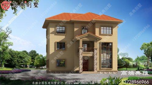 135平米乡村三层自建房设计图纸带外型图