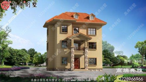 99平米三层别墅户型图纸及整套工程施工方案,简