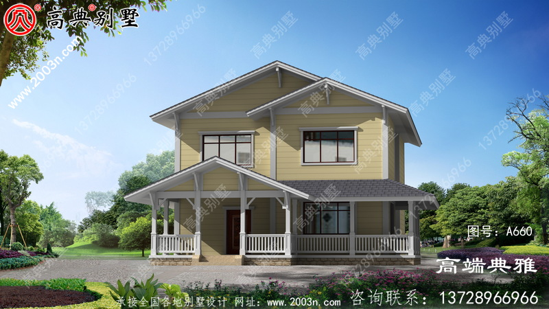 二楼的农村建造设计图,典型的农村建筑风格越看越有味道