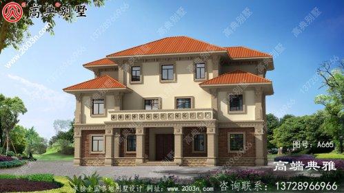 高端三层别墅房屋设计图方案及效果图