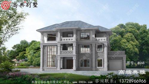 欧式占地225平方米的三层别墅设计图包括效果图