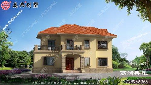 农村欧式二层建筑设计图占地138平,室内布局合