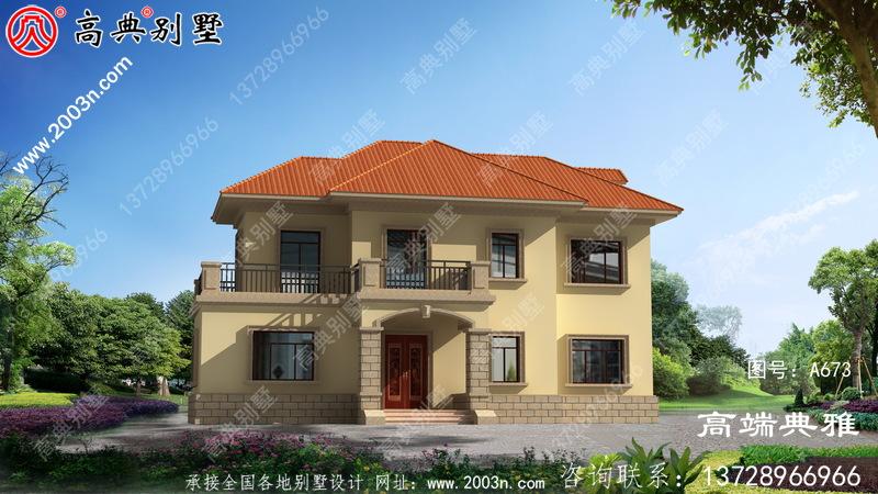 农村欧式二层建筑设计图占地138平,室内布局合理。
