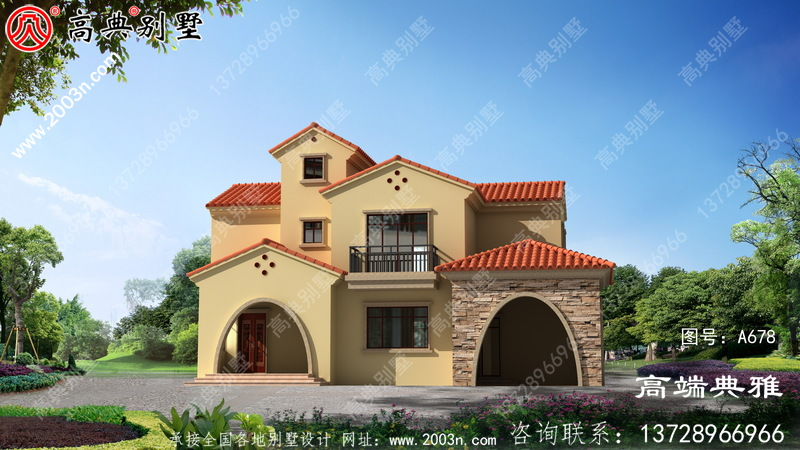 农村30万内两层建筑设计图成本低,简单美观。