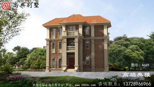 农村自建欧式三层别墅设计图,造价低经济型别