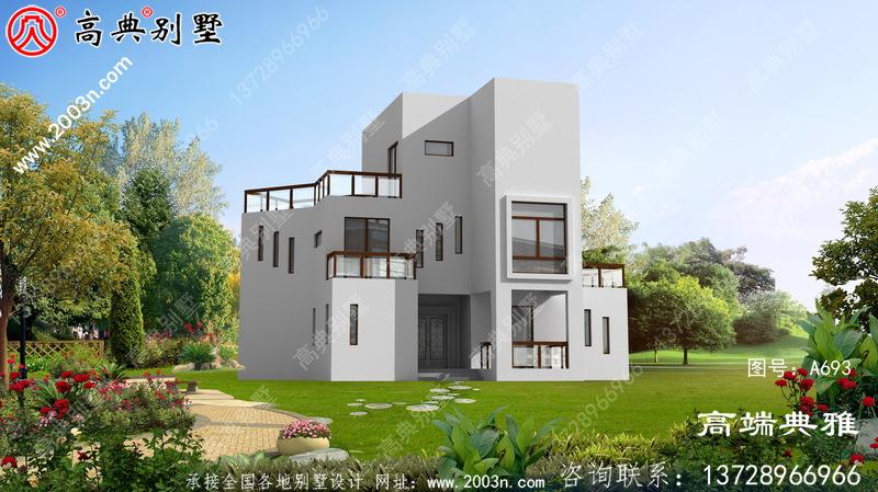 室内布局合理的现代两层建筑的经济实用设计图纸