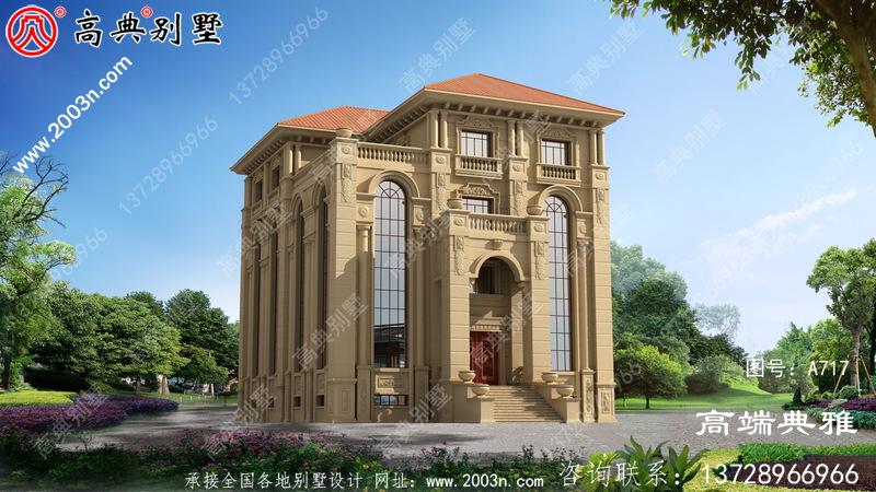 法式四层别墅设计效果图,复式设计高贵典雅