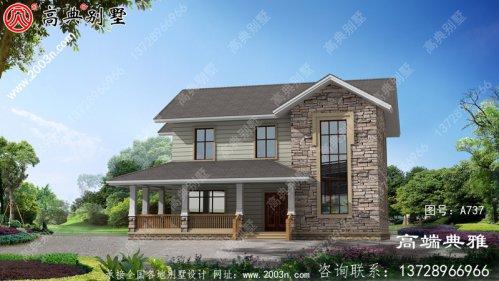 二层楼房设计图,外观造型优雅,布局合理