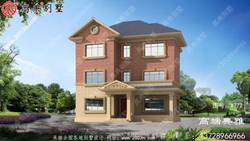 推荐新农村三层住宅设计图纸(含效果图)和农村别
