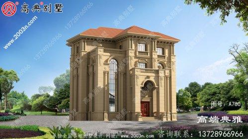 法式豪华四层别墅设计图,包括外观效果图+施工