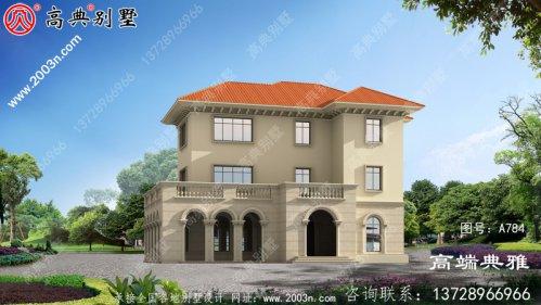 农村三层住宅设计方案,附有外观和效果图