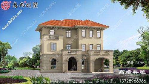 高档豪华三层别墅住宅设计方案,欧式外观