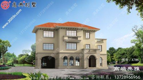 178平的三层住宅设计图,推荐新农村住宅的建设