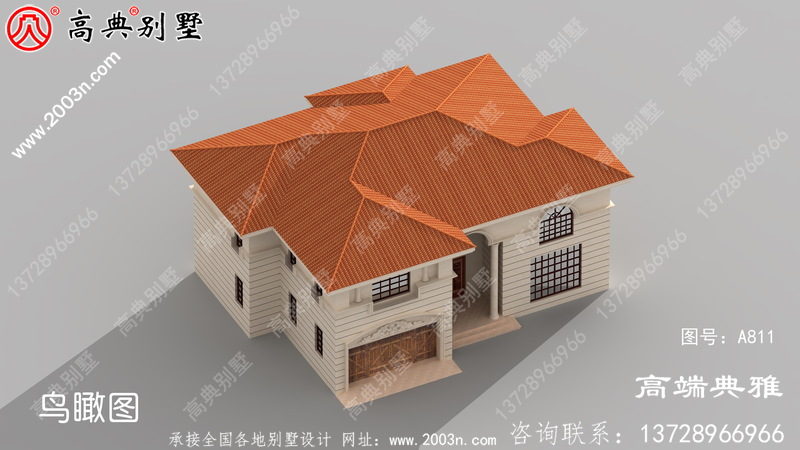 乡村简单二层楼设计图纸,外型简单漂亮,經典时尚潮流