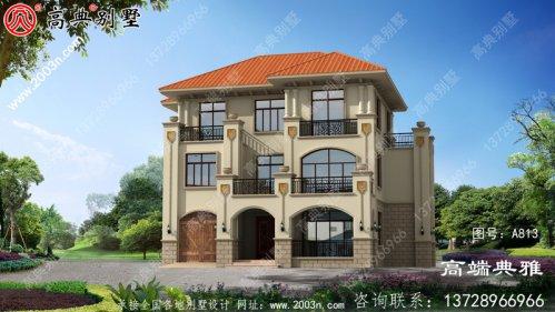 新农村住宅规划建议设计一栋带车库和露台的三