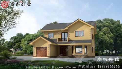162平乡村两层房屋设计图,包括外