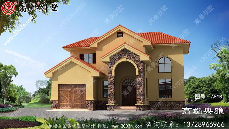 欧式古典别墅设计图纸设计效果图,二层欧式古典小别墅设计方案展现