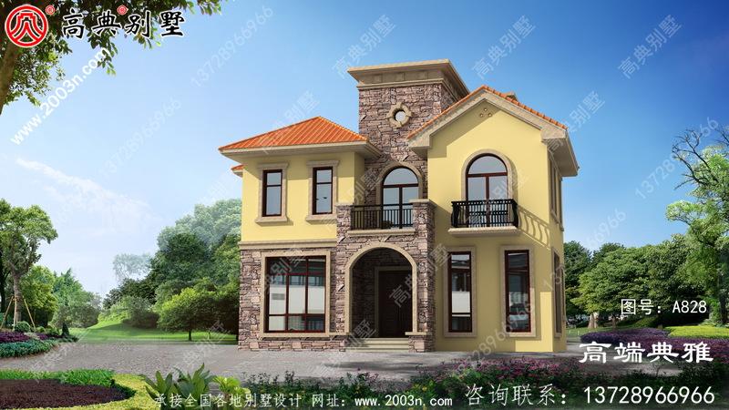 乡村两层建造楼房设计图,外观大气漂亮