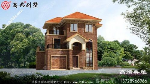 农村欧式三层自建楼房设计图,带