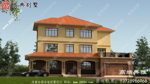 实用的三层新农村住宅设计图,乡村别墅设计图