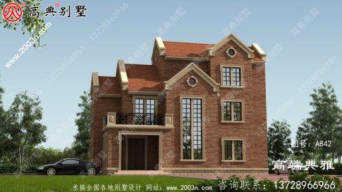137平方米新农村三层住宅设计,新农村住宅图纸