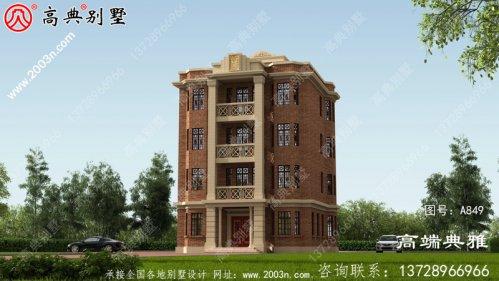 126平方米自建五层别墅设计图及效
