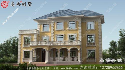 农村欧式三层别墅住宅设计图纸(包括外观效果图