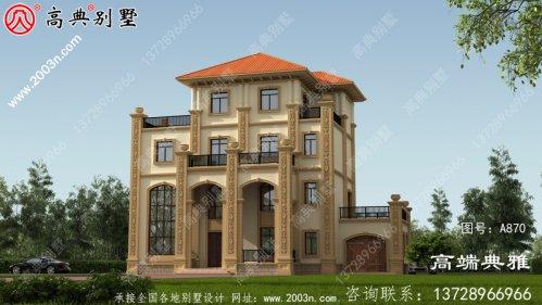 豪华四层别墅设计图及效果图、别墅设计图选