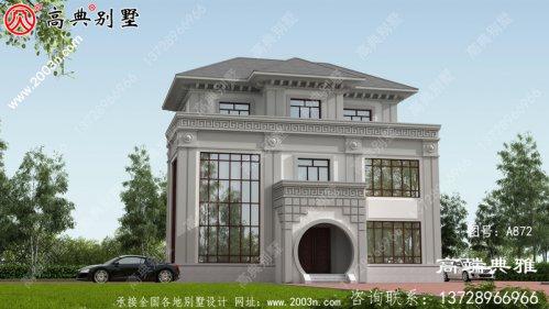 新农村三层自建住宅设计面积16