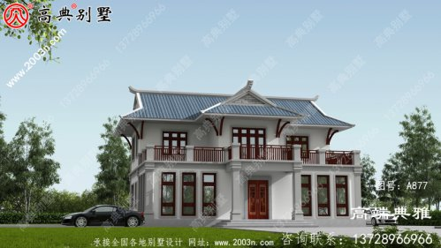 欧式两层别墅设计效果图,成本在30万左右,经济