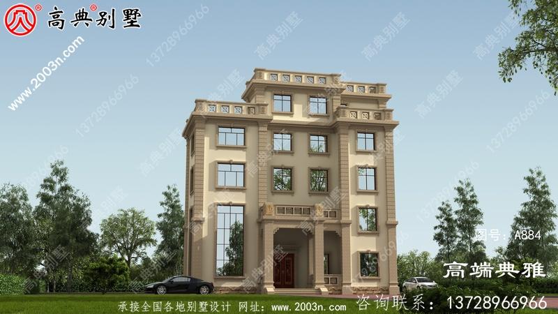 超高性价比的三层自建别墅设计图纸美观实用。