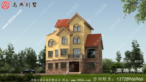 四层欧式房屋别墅设计施工图纸及效果图