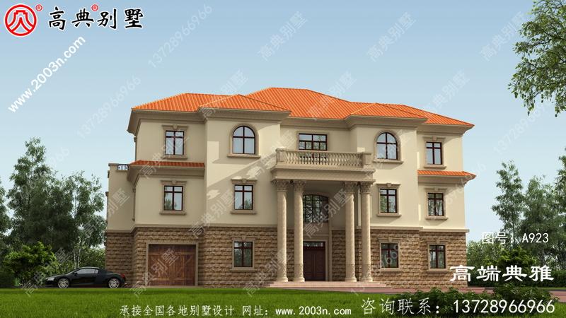 农村三层别墅建筑图纸,大户型低调简约