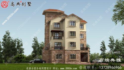 农村建设四层别墅设计图,125平米,规格可订制