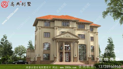 381平方米四层别墅设计图纸,带效果图,大户型