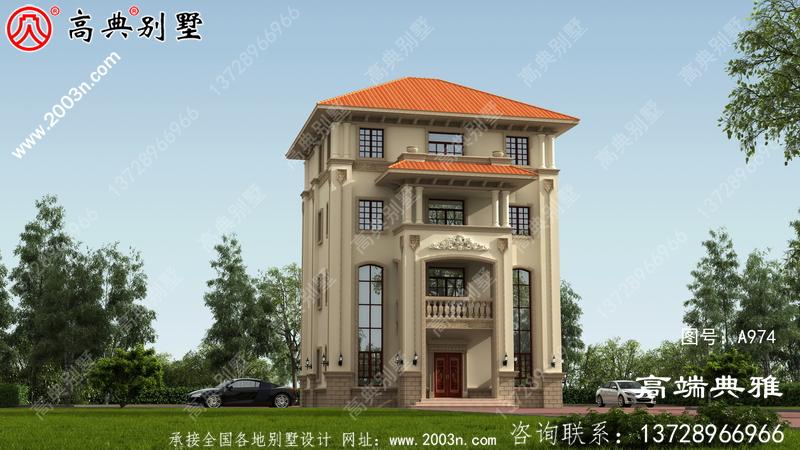 欧式四层别墅设计方案(效果图+全套设计施工图)