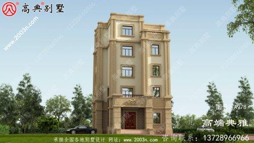 五层奢华欧式别墅房屋设计图,外型高档大气