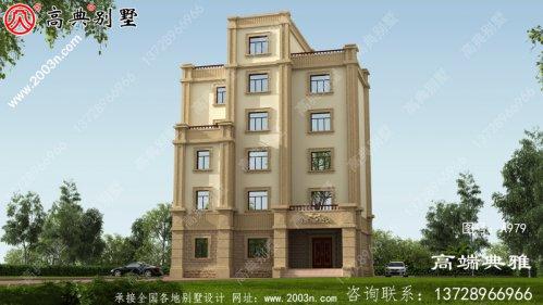 大户型欧式五层半层别墅建筑图纸,全套设计图