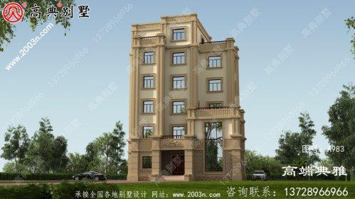 建造五层豪宅设计图纸,简欧风格,高大上