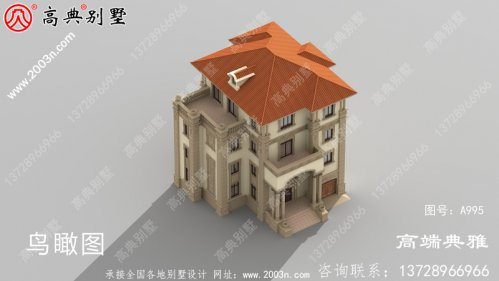 占地206平的欧式豪华四层别墅设计图纸及效果图