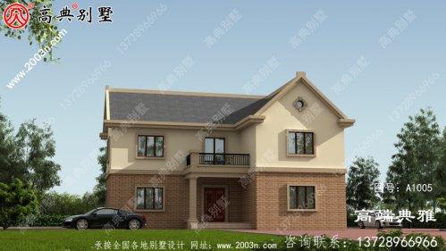 农村二层居民楼工程图纸及设计效果图,房型好