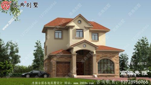 欧式三层自建别墅建筑设计图及效