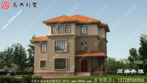 40万内的三层新农村自建别墅屋独栋别墅工程施工