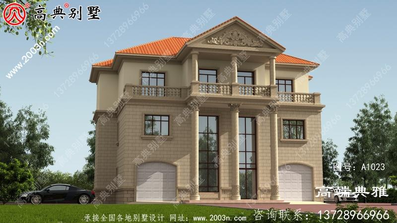 207平方米新农村带车库三层别墅设计图纸及效果图
