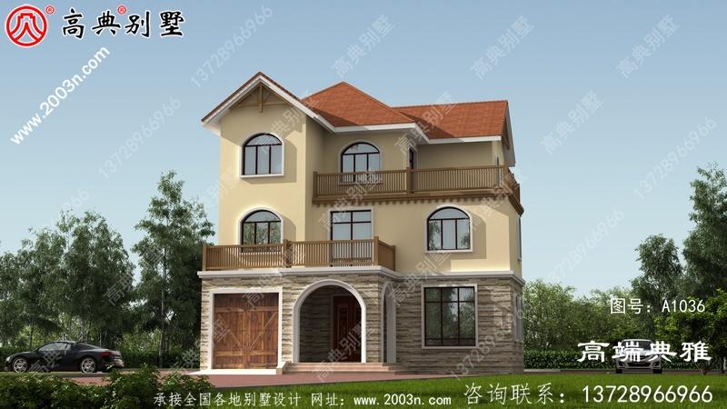 139平方米农村自建三层别墅设计图及效果图